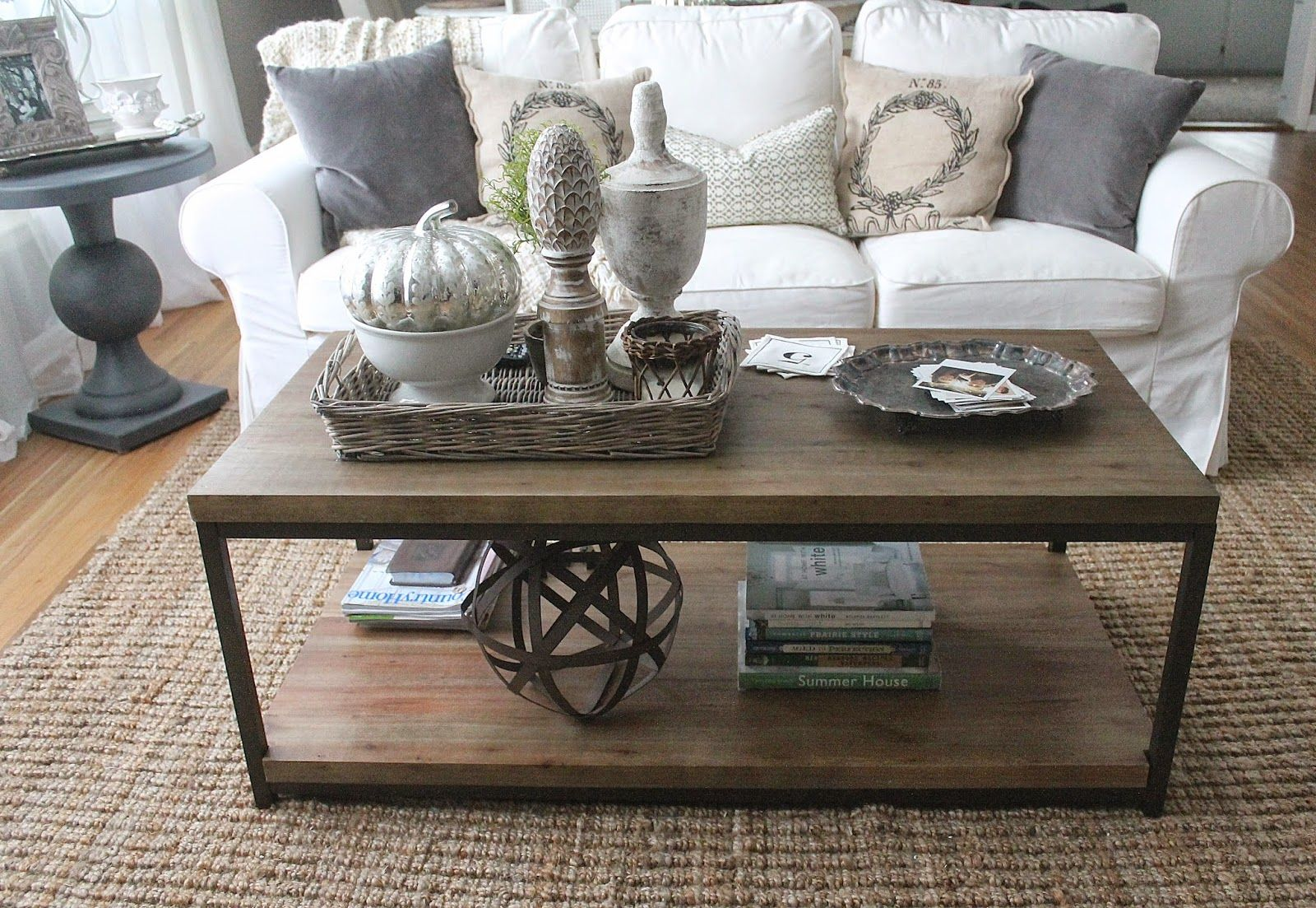 Tray Table Decor Ideas Eclectic Home Tour  12Th And White Blog  Coffee Living Rooms