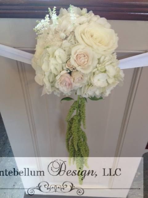 Blush Wedding Flowers With Hanging Amaranthus For Aisle Decorations By Dallas Florist AntebellumDesign