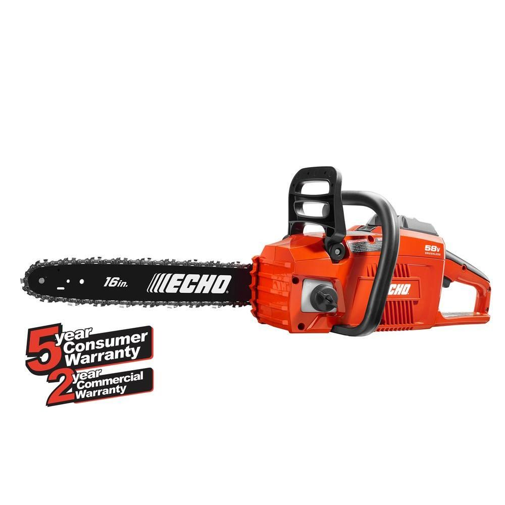 Echo 16 In 58 Volt Brushless Lithium Ion Cordless Chainsaw 4 0 Ah