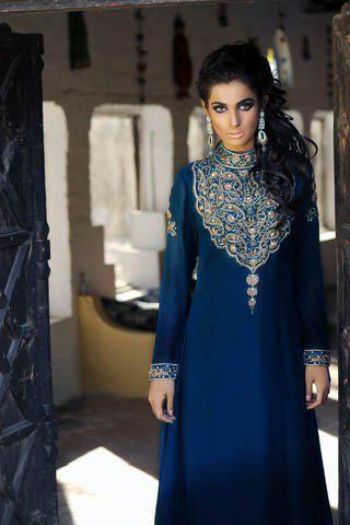 7c9f28e894 blue pakistani dresslike the colour and embroidery | Outfit ...