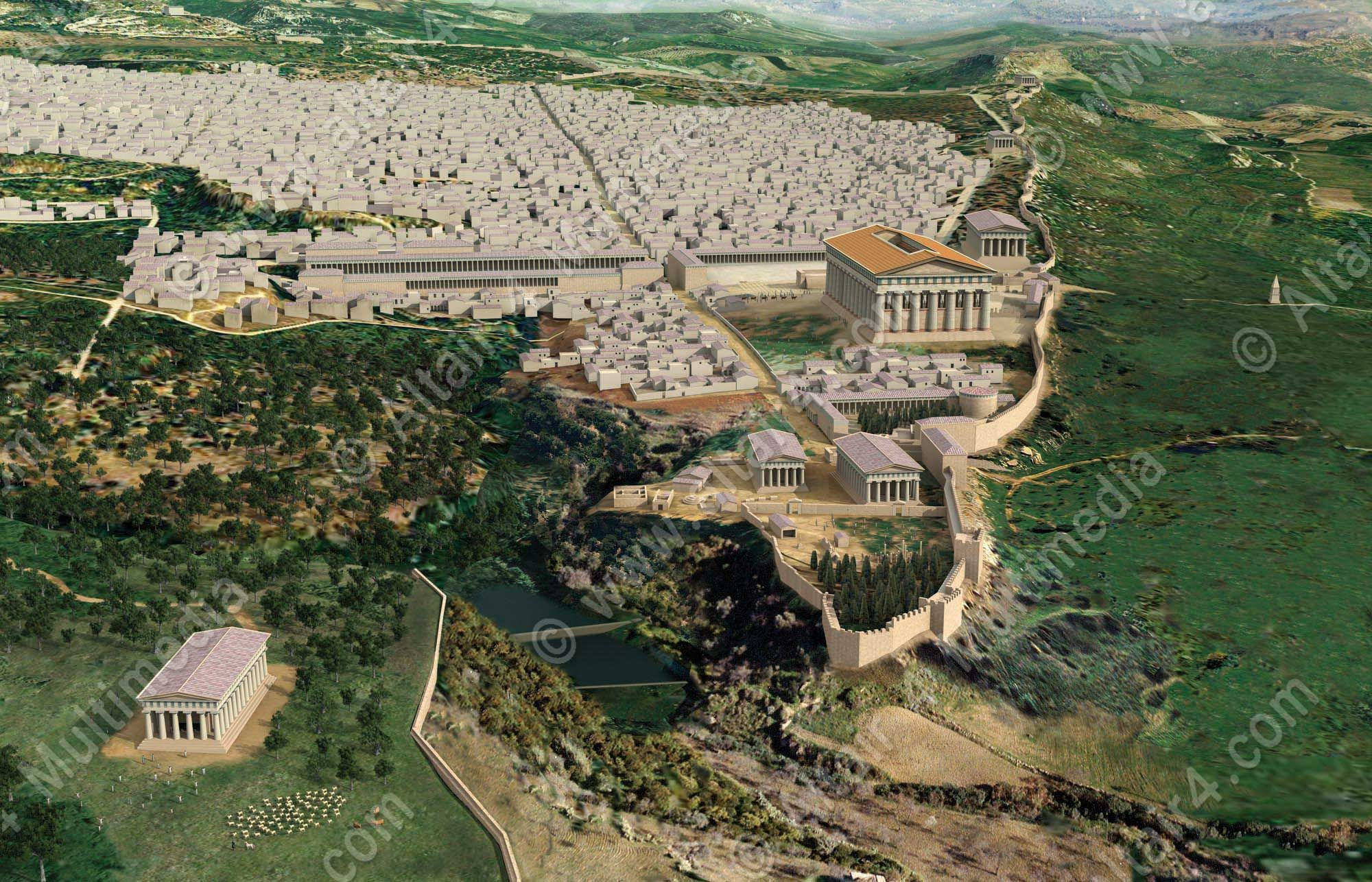 3D Reconstruction of the city of Agrigento by Altair 4 Multimedia