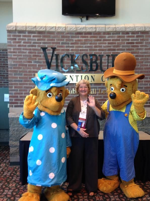 PRCLS Director, Carol with the Berenstain Bears, Oct. 2014  @ Mississippi Library Association ‪#‎prcls1‬ ‪#‎mslib14‬