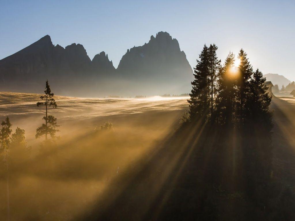 Sunrise Dolomites HD Desktop Wallpaper