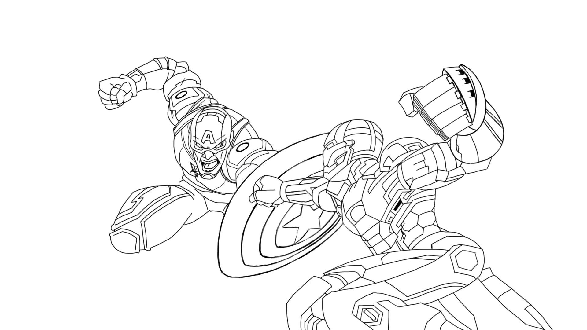 Fantastic Iron Man Coloring Pages Ideas Iron Man Vs Captain America Cartoon Coloring Pages Coloring Pages