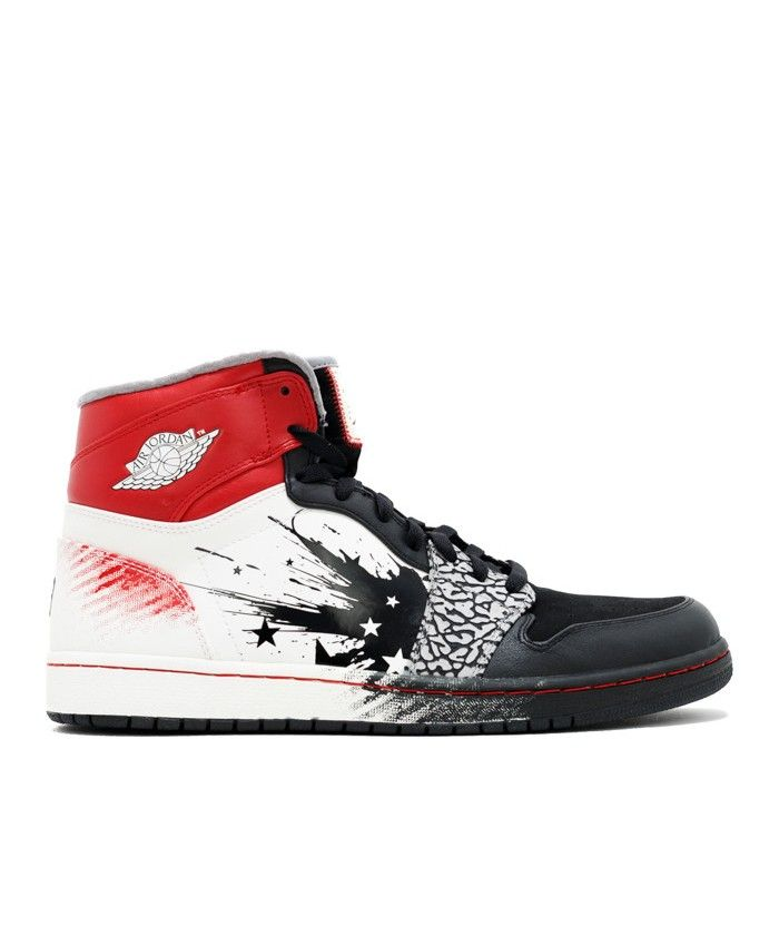 info for e0290 d1398 Air Jordan 1 High Dw Dave White (Wings Of The Future) Black Sport Red White