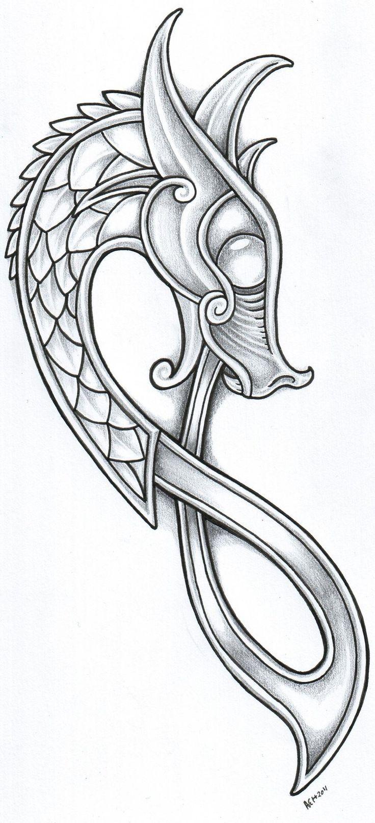 Pin by dale himebaugh on viking tattoos pinterest dragon viking