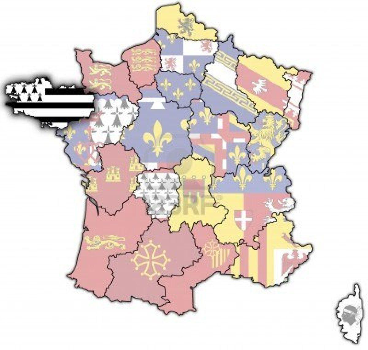 Stock Photo   Cartes anciennes, Bourgogne carte et Carte de france
