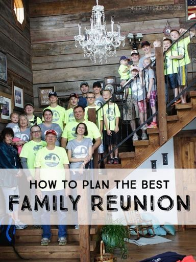 How to plan the best Family reunion! - great ideas!