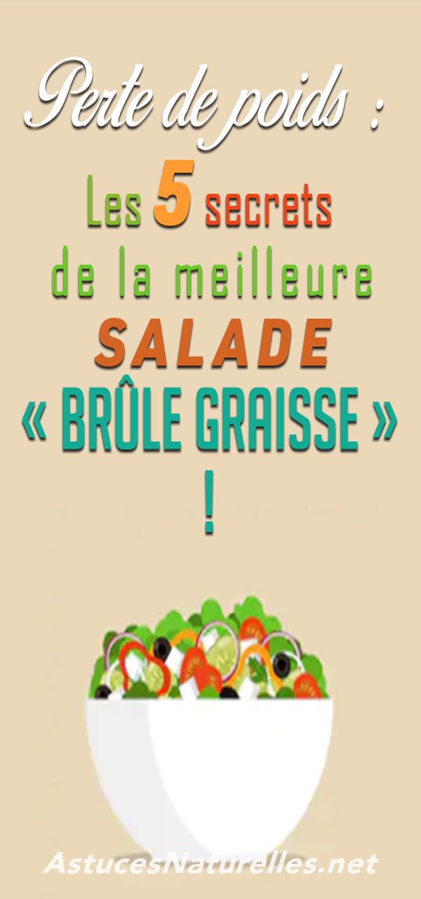 Perte de poids: les 5 secrets de la meilleure salade brûlante!