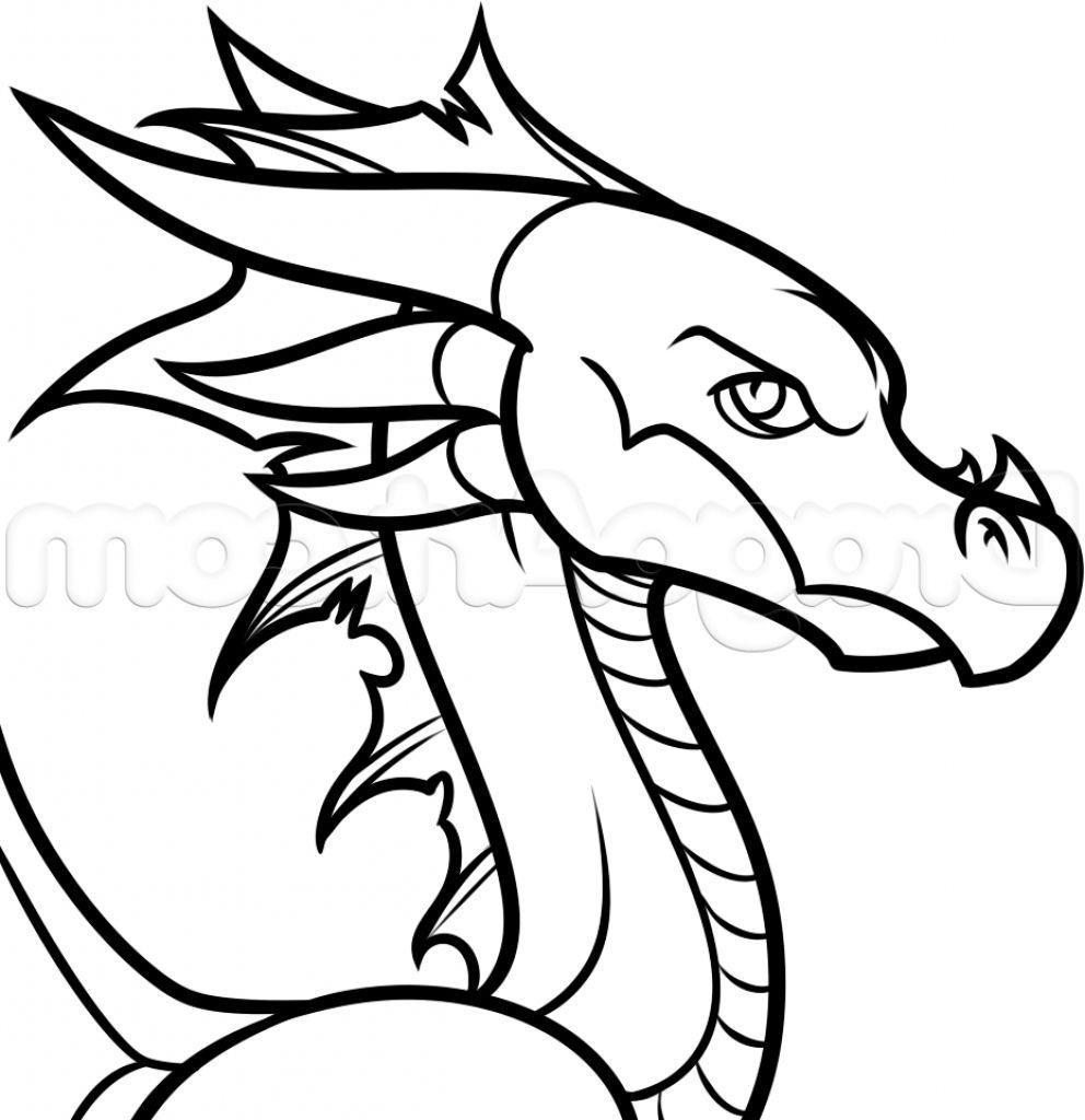 How To Draw A Cartoon Dragon Easy Cartoon Dragon Easy To Draw Easy