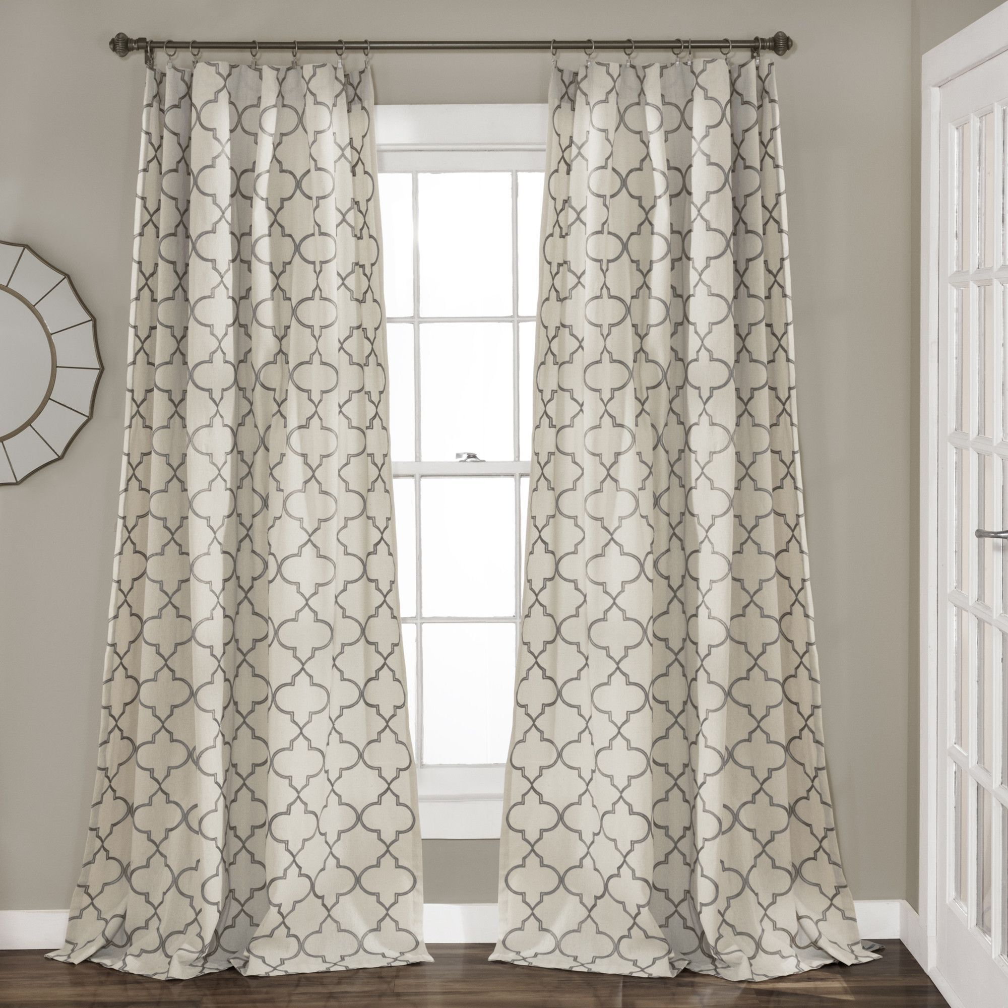 geo trellis window curtain panel set home pinterest. Black Bedroom Furniture Sets. Home Design Ideas