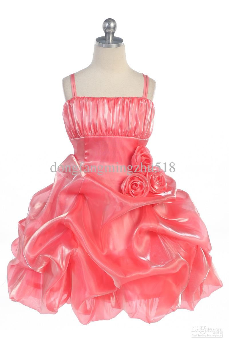 coral flower girl dress. Would only add a touch of turquoise. Like ...