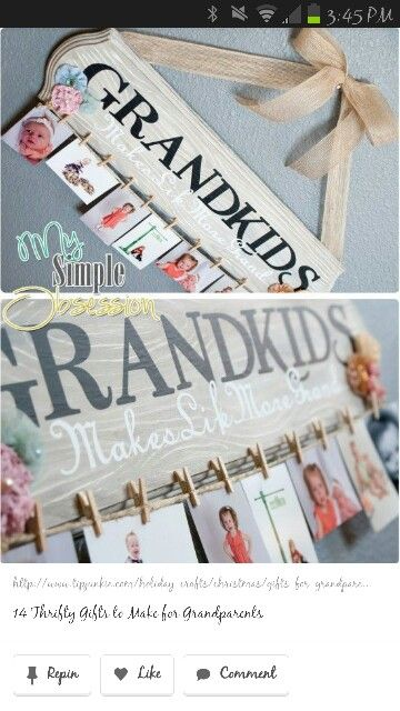Cute Gift For Grandparents Or Put Cousins And Pictures Gifts