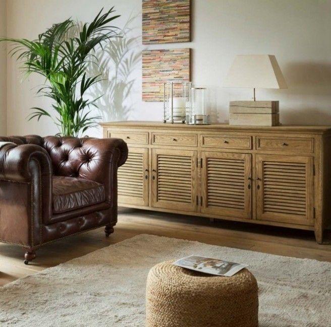Aparador de madera Hampton blanco o roble natural | decoració ...