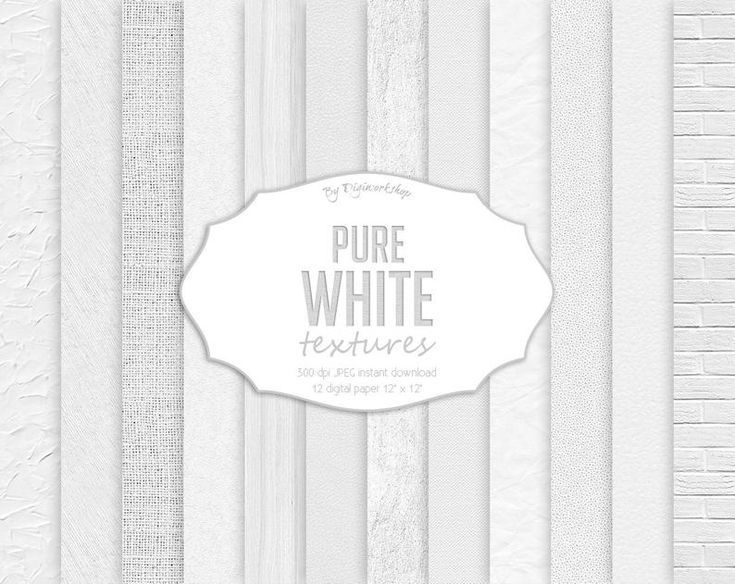 white backgrounds plaster leather canvas scrapbook papers white wood brick burlap Pure White Textures Digital Paper