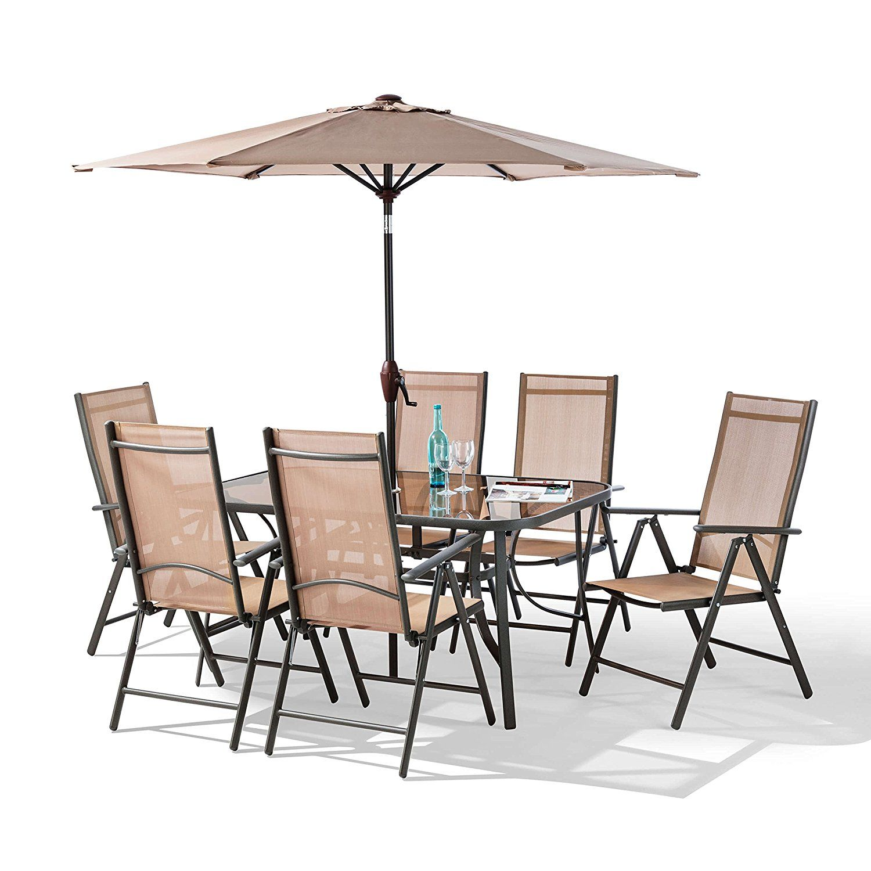 Garden Hut Santorini New Model And Patio Set Beige 8 Piece Co Uk Outdoors