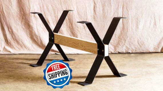 Steel Dining Table Legs Trestle Style These Legs Are Made Using