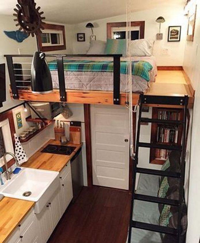 Smallhouse Exterior Ideas: 93 Most Popular Enchanting Small House Interior Design 21