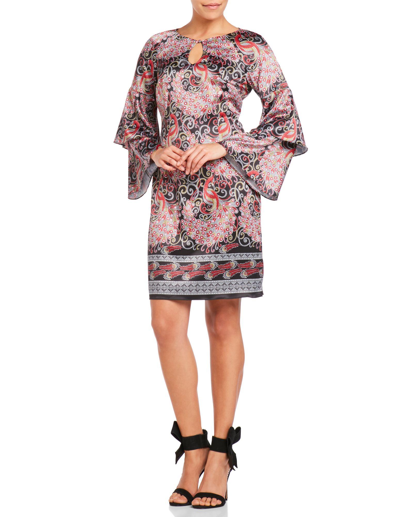 Nanette Nanette Lepore Keyhole Paisley Dress