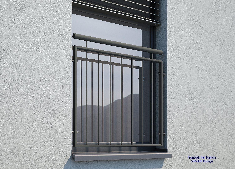 Franzosischer Balkon Pulverbeschichtet Md 02ip Anthrazitgrau Ral7016 In 2020 Diy Interior Doors French Doors Patio French Doors Patio Exterior