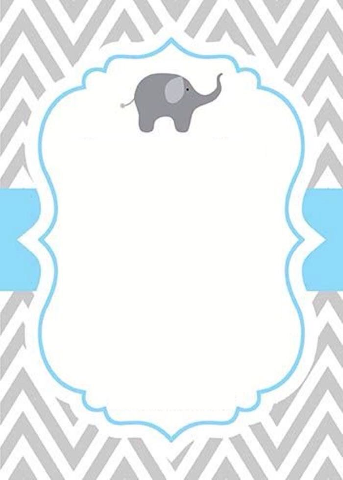 Invitacion Elefantitos Baby Shower Pinterest Baby Shower Baby