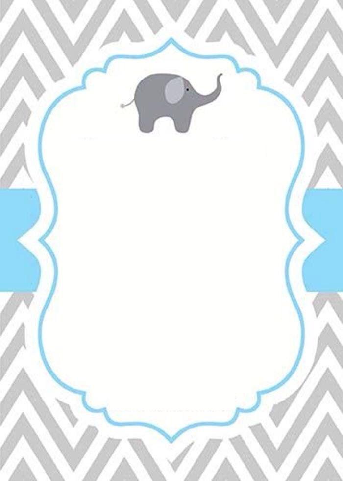 Invitaciones De Elefantes : invitaciones, elefantes, Invitación, Elefantitos, Tarjeta, Bautizo,, Invitaciones, Bautizo, Nino,, Shower, Imprimir
