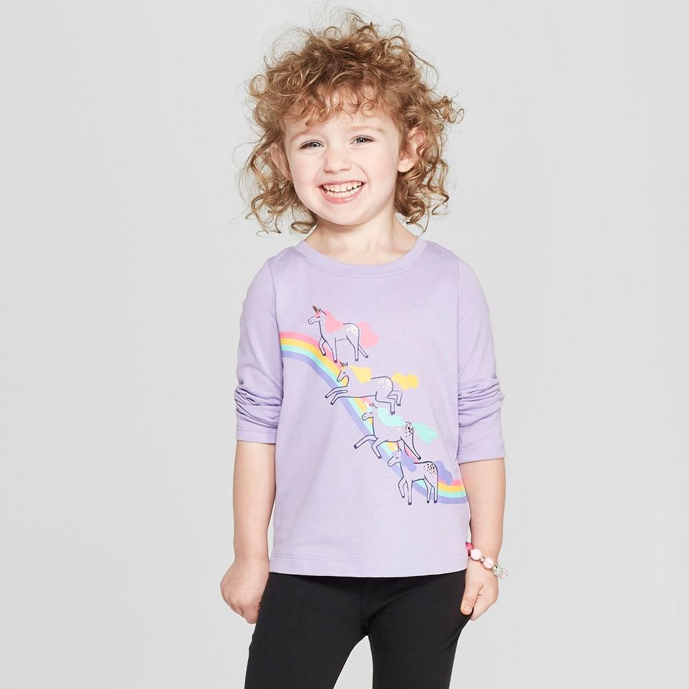 8cf4c37d Toddler Girls' Unicorn Long Sleeve T-Shirt - Cat & Jack Hushed Violet 5T,  Purple