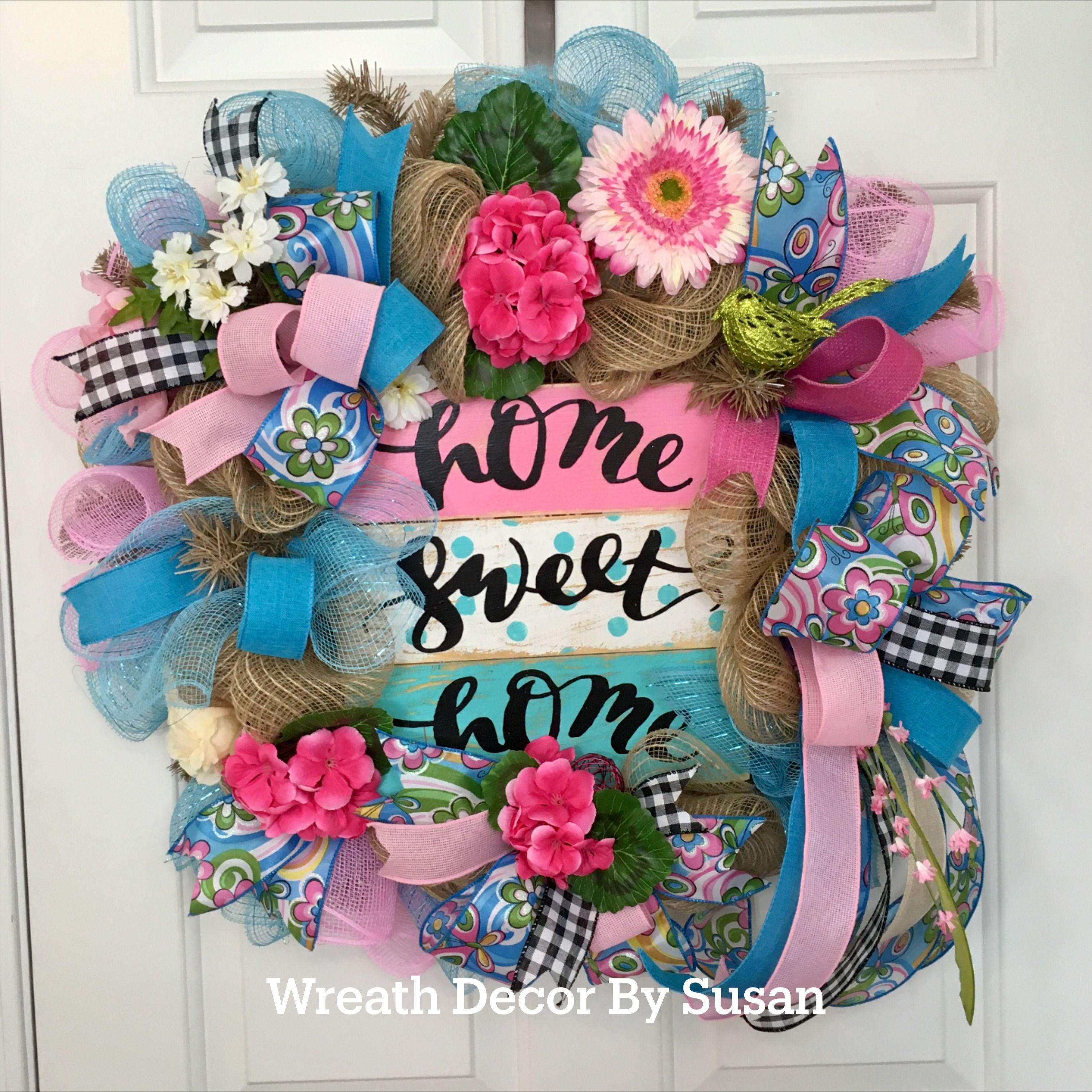 Photo of HOME SWEET HOME Front Door Wreath