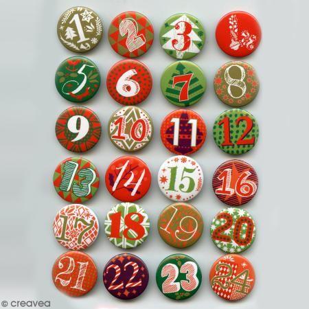 Pines Calendario de Adviento - 2,5 cm - 24 unidades - Fotografía n°3