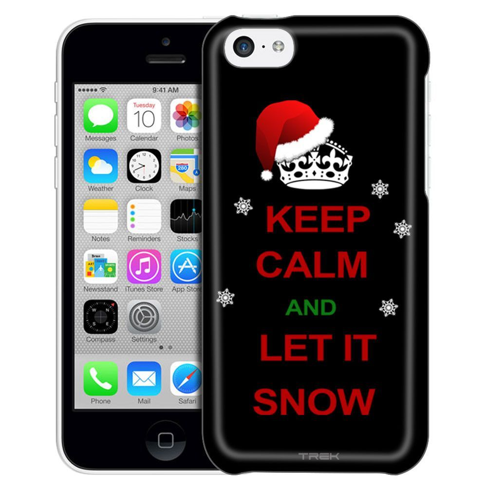 Apple iPhone 5C KEEP CALM and Let It Snow on Black Case