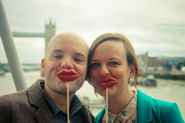 Cute shoot at Tower Bridge to celebrate Dan and Kerrie's engagement. Photos by Hajley Petein Photography