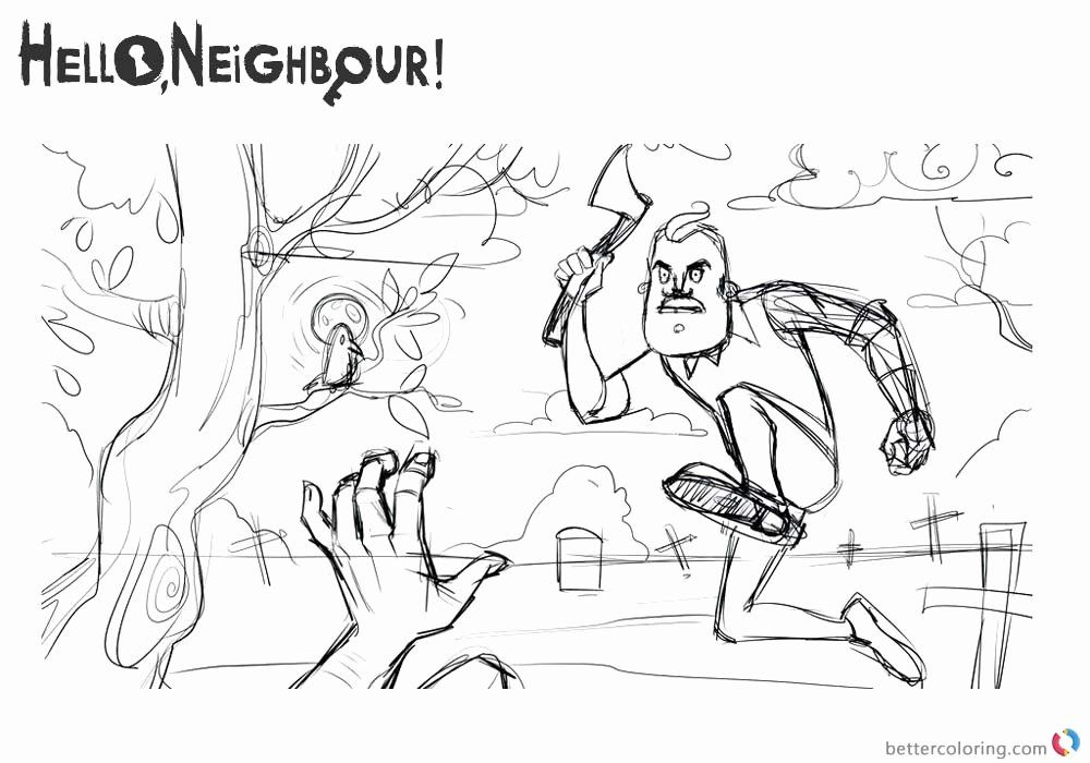 25 Marvelous Hello Neighbor Coloring Pages — Conexionunder