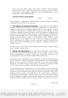 Printable Sample Standard Lease Agreement Form  Word Template
