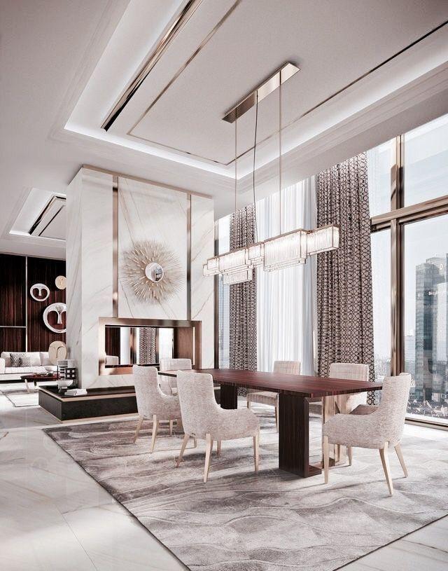 Grand And Elegant Luxury Dining Room Elegant Dining Room Gold Living Room Decor