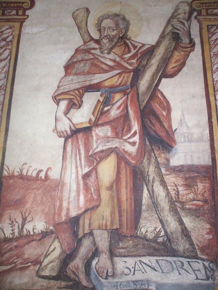 HELDER BARROS: Amarante Lufrei - No restauro interior da Igreja Românica do Salvador de Lufrei, apareceram estas pinturas fantásticas que estavam sob as camadas de pintura das paredes...