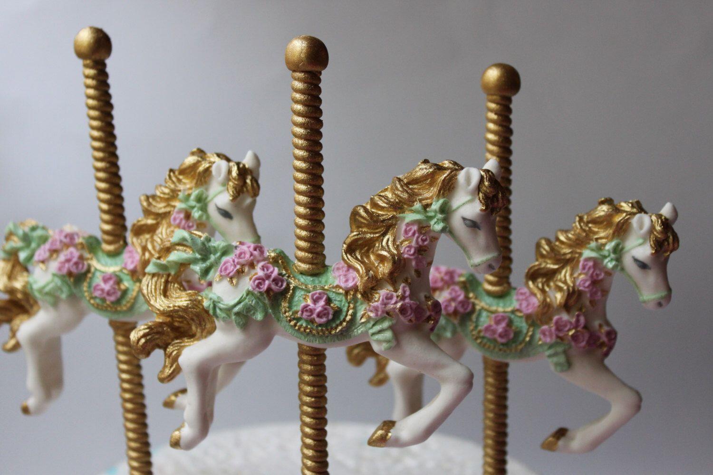 Carousel horse cake topper sugar decoration fondant gum