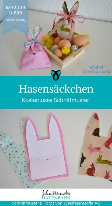 Nähen für Ostern / 23 Freebies & gratis Schnittmuster