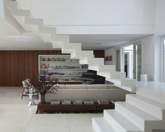 Escadas Internas suspensa de concreto   escadas ...