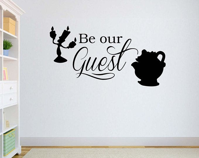 Best Disney Vinyl Wall Word Decal Be Our Guest Beauty And 400 x 300