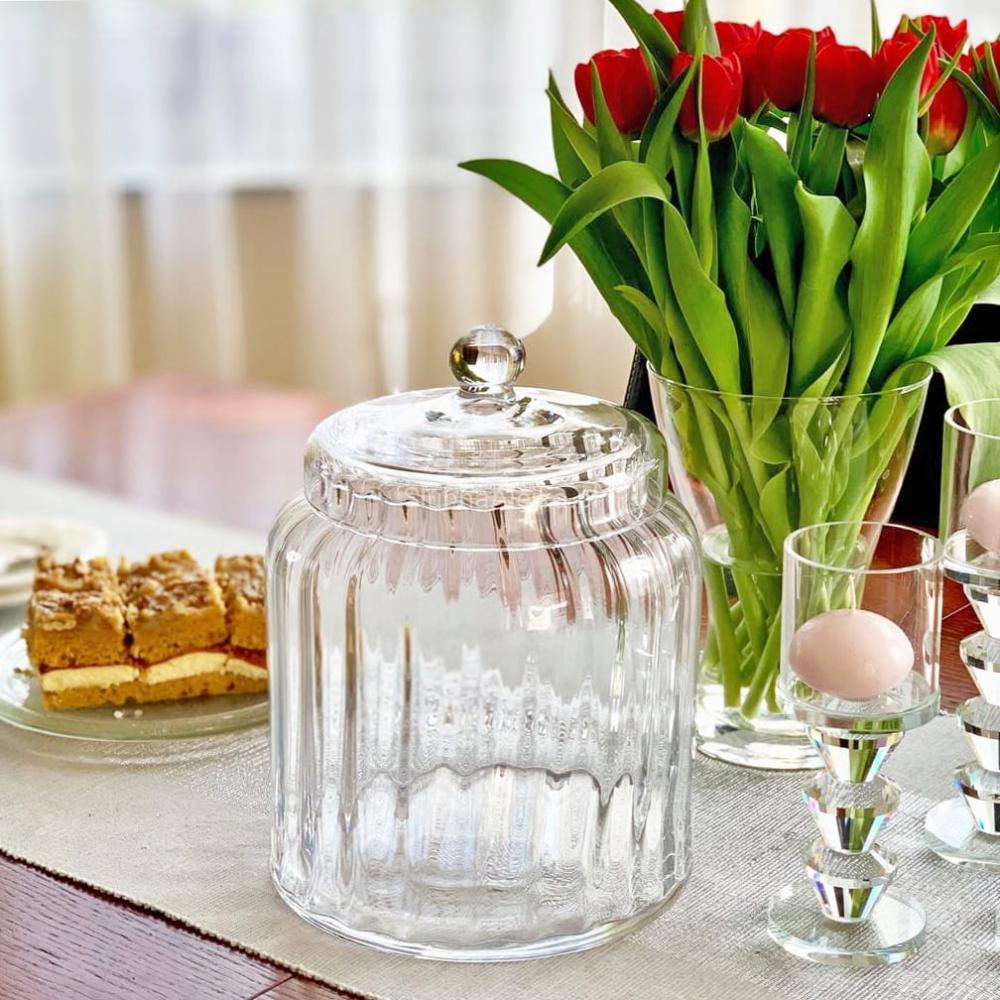 Szklany Pojemnik Na Candy Bar Z Pokrywka Classic 27cm Sklep Slubna Alejka Table Decorations Decorative Jars Decor