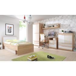 Photo of Children's room – desk Benjamin 29, color: beech / olive – 76 x 125 x 60 cm (H x W x D) Steiner – io.net/design
