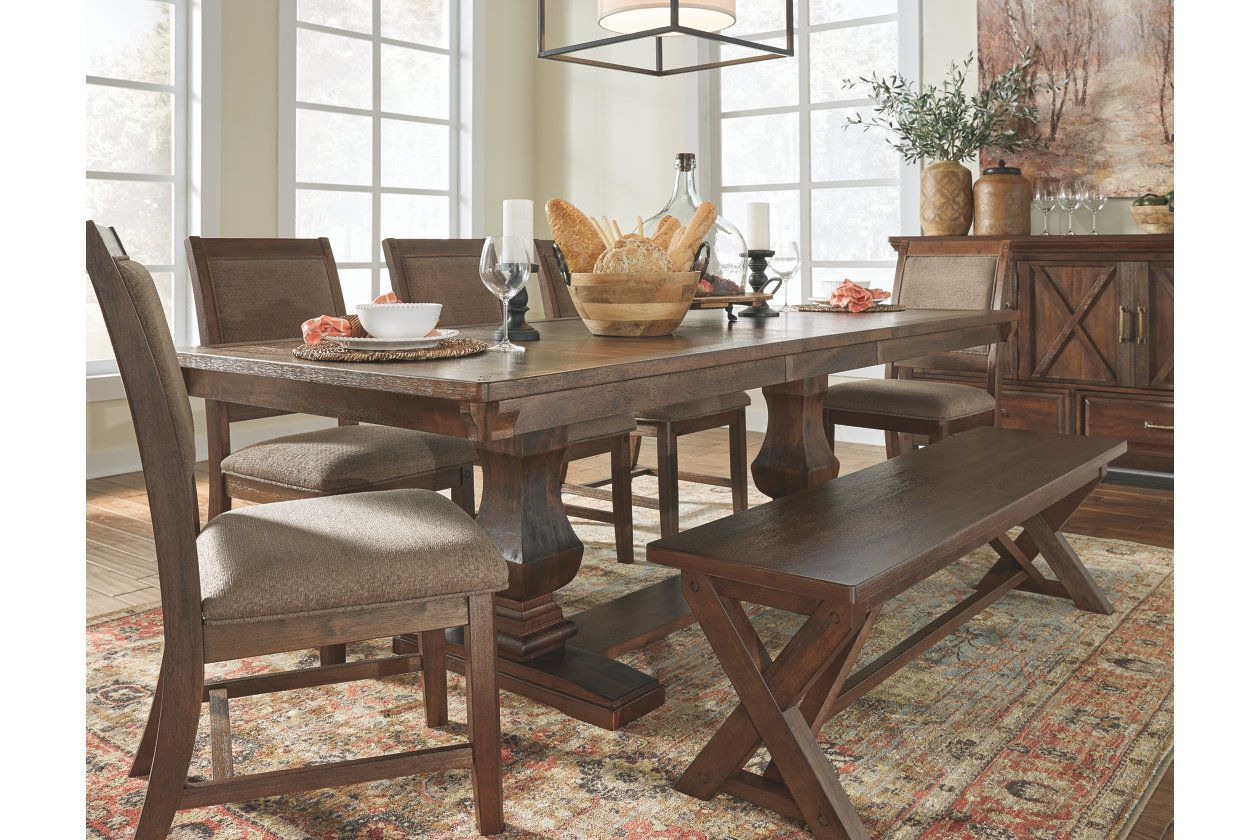 Windville Dining Room Chair Set Of 2 Brown Taupe Dining Room