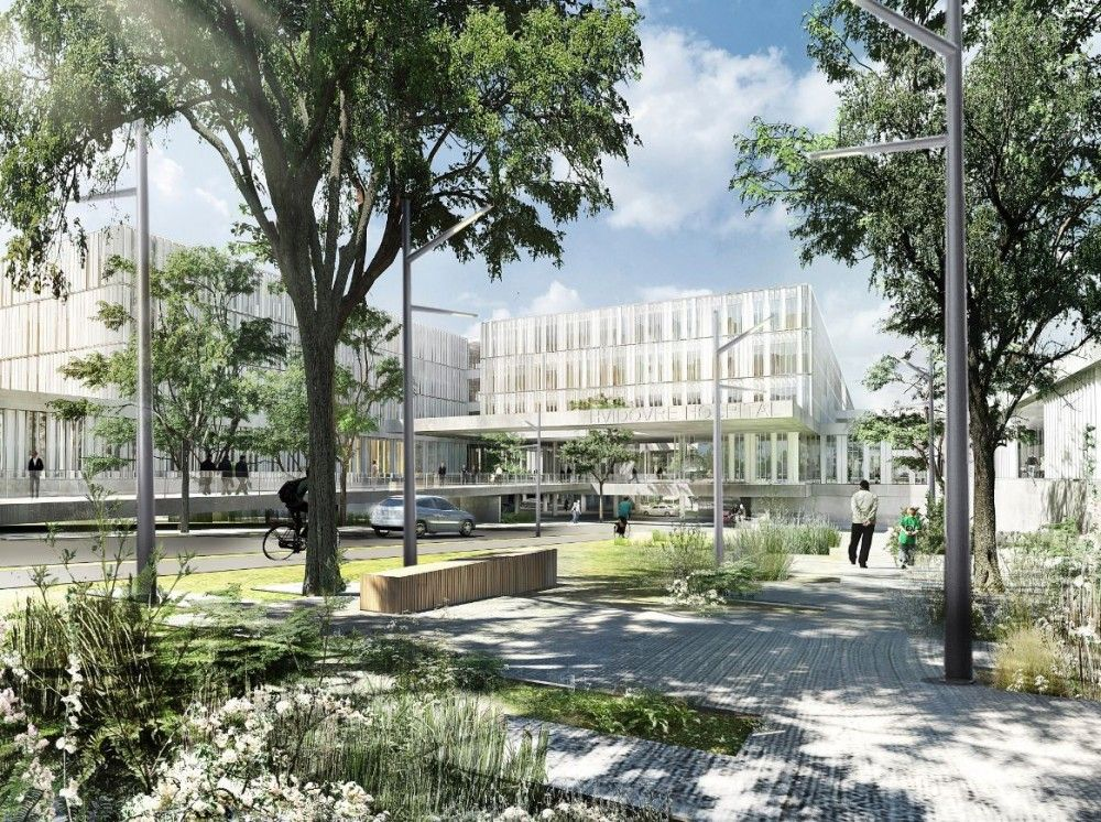 New Hospital Hvidovre Extension Winning Proposal / Schmidt Hammer Lassen Architects + Aarhus Arkitekterne