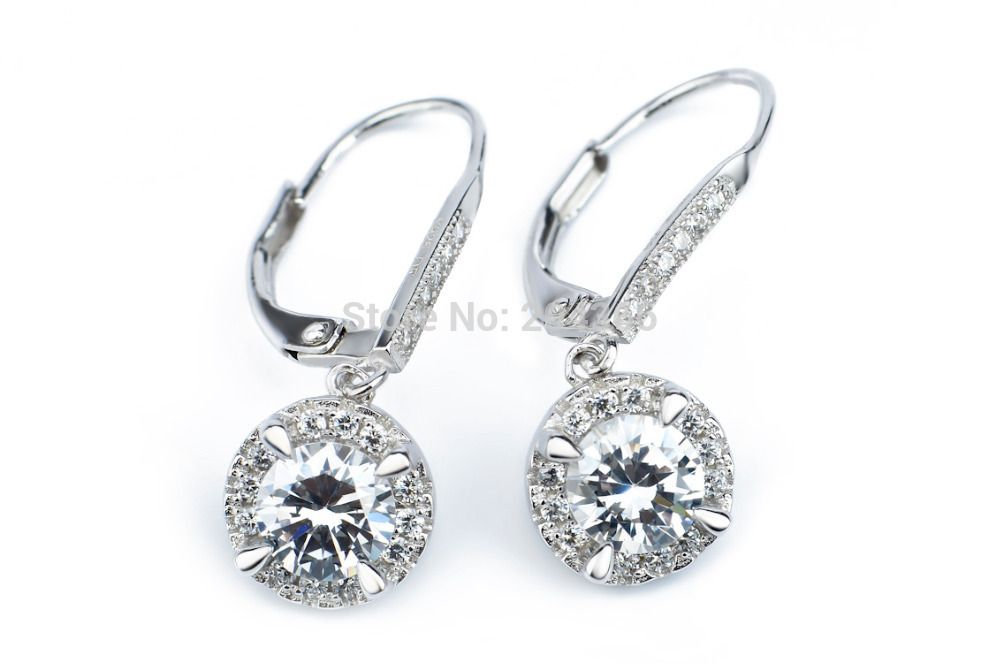 Find More Drop Earrings Information about GNE0961 Designer Jewelry Fashion 925 Sterling Silver micro pave Zircon Jewelry Drop Earrings 27.7*9.3mm Free Shipping Wholesale,High Quality Drop Earrings from Elegant trade Co., Ltd. on Aliexpress.com