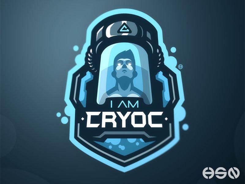 I Am Cryoc Logo Design Esports Logo Unique Logo Design