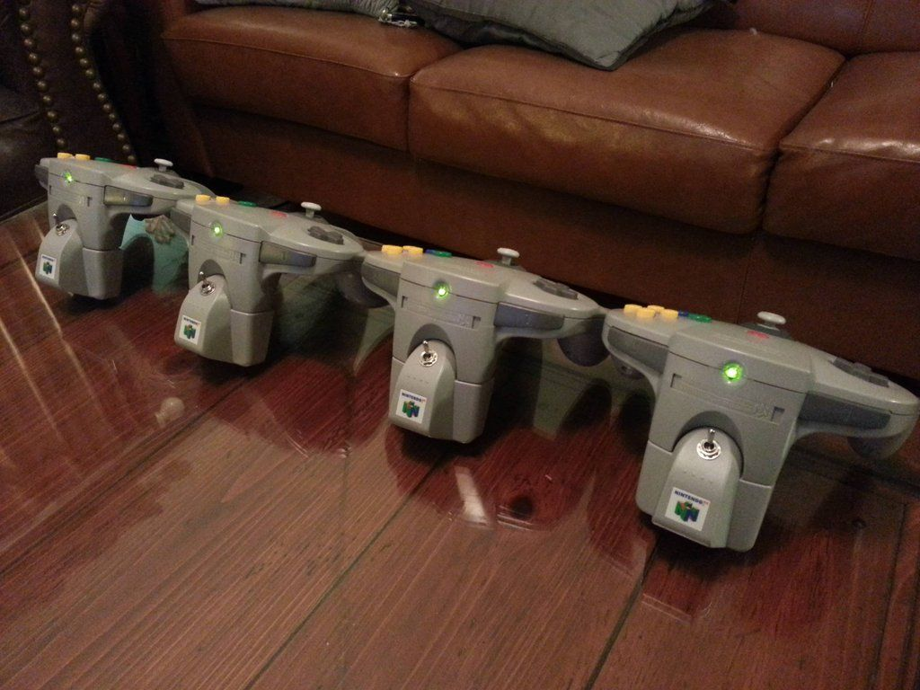 Wireless N64 Controllers Gaming Computer Game Bit Nintendo Consoles