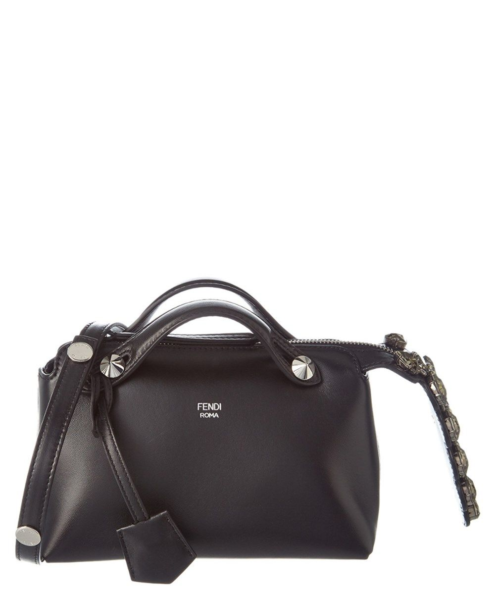 e7ed67bdce FENDI Fendi Mini By The Way Embellished Leather Boston Bag .  fendi  bags  shoulder  bags  hand bags  lining  leather  crystal