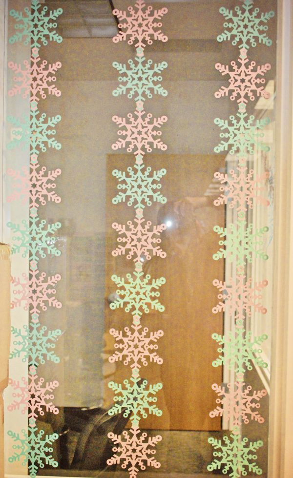 Snowflakes made with the #Cricut