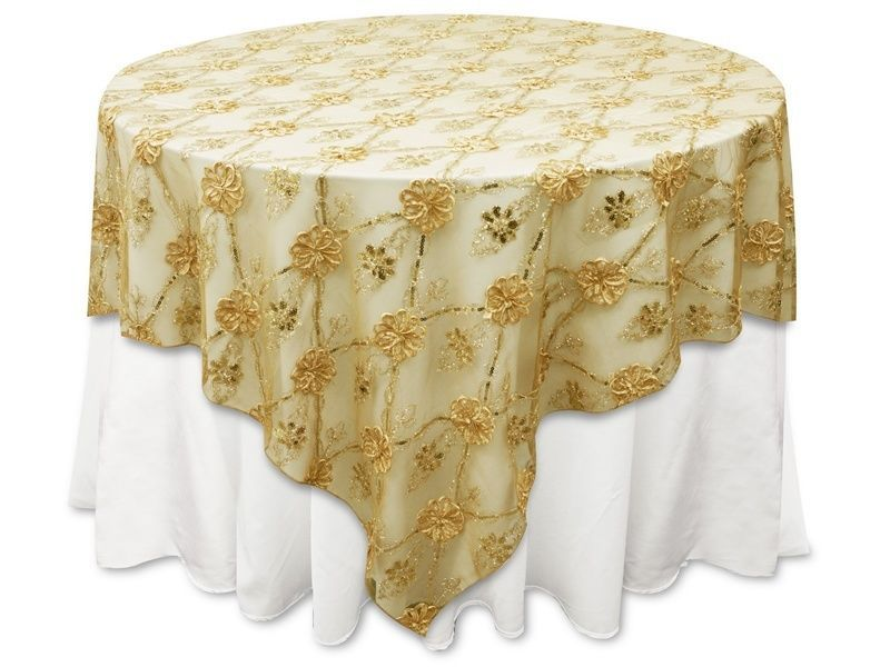 Champagne Floral Sparkly Sheer Tablecloth Overlay. Gorgeous U0026 On Sale For  $25 Each