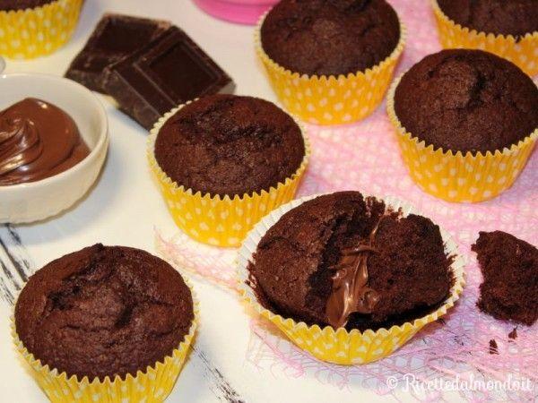 Muffin cioccolato e Nutella 8
